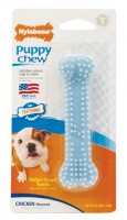 Nylabone Puppy Teething Dental Chew Bone  (XS) - nylonowa kość z wypustkami do żucia dla szczeniąt