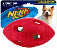 Nerf Dog Illuma-Action - Light up Football (M) - Piłka z oświetleniem LED dla psa