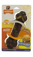 Nylabone Strong Chew Bacon Cheeseburger (M) - gumowa kość do żucia dla psa