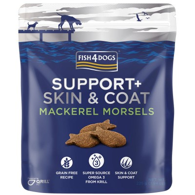 Fish4Dogs  Support+ Mackerel Morsels Skin and Coat  (225g) - suplement diety  Sierść i Skóre dla psa
