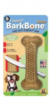Pet Qwerks Bark Bone Wood with Mint Flavor Infused (M) - zabawka o smaku mięty do żucia dla psa