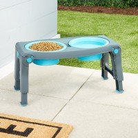 Dexas Adjustable Height Pet Feeder - regulowany stojak z dwiema miskami dla psa