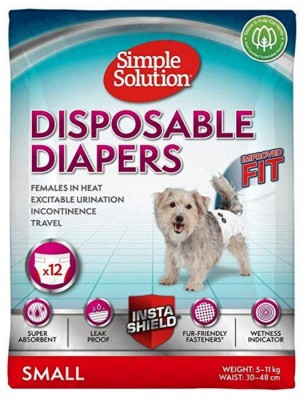 Simple Solution Disposable Diapers (S / 12szt) - jednorazowe pieluchy dla suczek